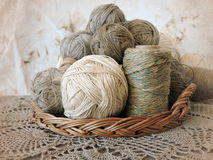 Hilo de lino Foto de archivo libre de regalías