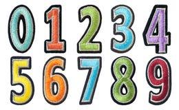 hilo de los números del color Foto de archivo libre de regalías