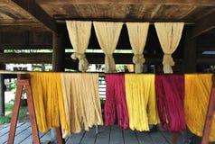 Hilo de seda tailandés Imágenes de archivo libres de regalías