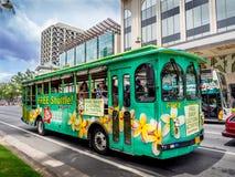 Hilo Hattie的公共汽车 免版税库存图片
