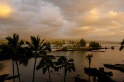 Hilo im Nachmittagssturm auf Hawaii, die große Insel, USA Lizenzfreie Stockfotografie