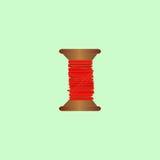 hilo, rojo Imagen de archivo libre de regalías