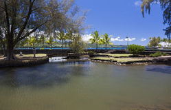 Hilo's ocean front park Royalty Free Stock Photography