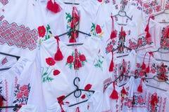 Hilo tradicional del ornamento de la flor de Ucrania imagen de archivo