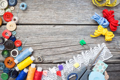 Hilo y costura Imagen de archivo libre de regalías