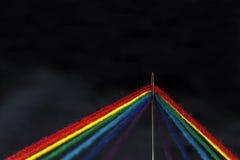 Hilos coloridos en una aguja Fotografía de archivo