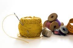 Hilos de coser, bobinas Fotografía de archivo