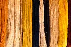 Hilos de lanas naturales Fotografía de archivo libre de regalías