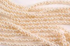 Hilos de perlas   Imagen de archivo libre de regalías