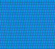 Hilos tejidos azules de la materia textil Imagenes de archivo
