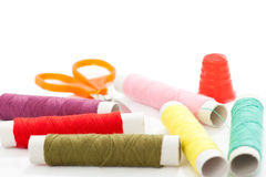 Hilos y accesorios de costura Imagen de archivo
