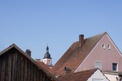 Hilpoltstein-Dachspitzenansicht Lizenzfreies Stockbild