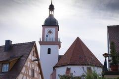 Hilpoltstein-Kirche Stockfotos
