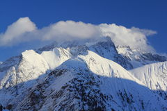 Hils的全景,列斯Deux Alpes,法国,法语 库存图片