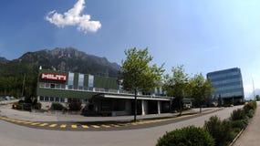 Hilti-tool factory in Lichtenstein. Expedition Hilti products in stock Lichtenteinskom near Vaduz Royalty Free Stock Photography