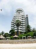 Hilton alla spiaggia di Hua Hin Fotografia Stock Libera da Diritti