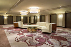 Hilton. CHICAGO, IL - CIRCA MARCH, 2016: inside of the Hilton Chicago. The Hilton Chicago is a large centrally-located luxury hotel in Chicago, Illinois, United Royalty Free Stock Photography