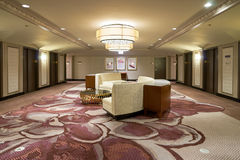 Hilton. CHICAGO, IL - CIRCA MARCH, 2016: inside of the Hilton Chicago. The Hilton Chicago is a large centrally-located luxury hotel in Chicago, Illinois, United Stock Photography