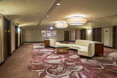 Hilton. CHICAGO, IL - CIRCA MARCH, 2016: inside of the Hilton Chicago. The Hilton Chicago is a large centrally-located luxury hotel in Chicago, Illinois, United Royalty Free Stock Photos