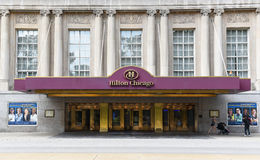 Hilton Chicago. CHICAGO - SEPTEMBER 5, 2016: Hilton Chicago. Entrance to the hotel that opened in 1927. Located on Michigan Avenue and overlooking Grant Park and Stock Photos