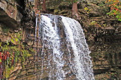 Hilton Falls Crest High Speed. High speed, freeze frame exposure of the crest of Hilton Falls. Located at Hilton Falls Conservation Area, this waterfall is the Stock Image