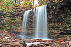 Hilton Falls Ontario. Hilton Falls is one of many Niagara Escarpment waterfalls and is one of the closest to the Greater Toronto Area. The waterfall is located Royalty Free Stock Photos