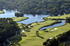 Hilton Head Golf Course Fotografia de Stock