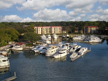 Hilton Head Island marina near the lighthouse, So Royalty Free Stock Image