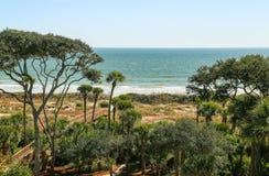 Hilton Head Ocean Front Royaltyfri Fotografi