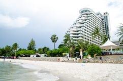 Hilton Hotel alla spiaggia di HUAHIN, Tailandia Immagini Stock