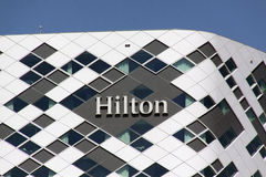 Hilton hotel in Amsterdam Royalty Free Stock Images
