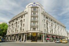Hilton Hotel In Bucharest. BUCHAREST, ROMANIA - MAY 09: Hilton Athenee Palace hotel On May 09, 2013 In Bucharest, Romania. Built in 1912 it has been Europe's stock photos