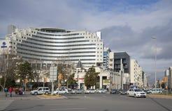 The Hilton hotel building and city street. Kayseri, Turkey Royalty Free Stock Photo