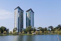 Hilton Hotel-gebouwen Royalty-vrije Stock Afbeeldingen