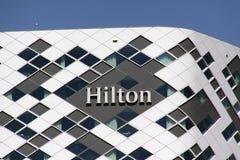 Hilton Hotel i Amsterdam royaltyfria bilder