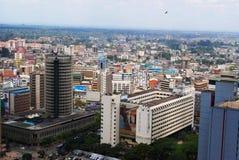 Hilton  Hotel Nairobi Kenya. Aerial view of Nairobi the capital city of Kenya including Hilton  Hotel Royalty Free Stock Photo