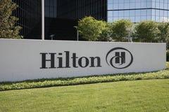 Hilton Hotel Sign fotografia stock