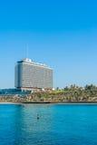 Hilton Hotel Tel Aviv. Hilton hotel in downtown Tel Aviv, Israel, viewed across the Tel Aviv Marina bay royalty free stock photos