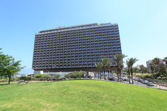 Hilton Hotel in Tel Aviv Independence Park. The famous Hilton Hotel in Tel Aviv, Israel, located in the Independence Park or Atzmaut Garden in the northern part Stock Photos