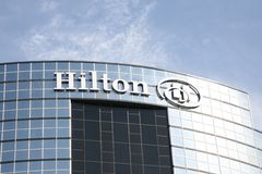 Hilton Hotel. Hilton Worldwide is one of the largest and fastest growing hospitality companies in the world, with more than 4,700 hotels, resorts and timeshare Stock Photo