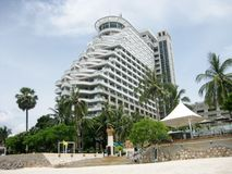 Hilton at Hua Hin beach. View to the building of Hilton hotel at the Hua Hin beach, Hua Hin resort, Thailand Stock Image