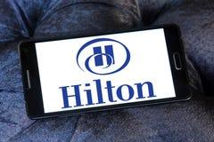 Hilton logo. Logo of hotels chain hilton on samsung mobile phone Stock Image