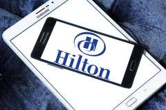 Hilton logo. Logo of hotels chain hilton on samsung mobile phone on samdung tablet Stock Images