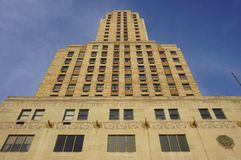 Hilton Netherland Plaza Hotel storico nella torre di Carew, Cincinnati Fotografia Stock Libera da Diritti
