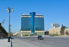 Hilton's hotel in the Baku city, capital of Azerbaijan republic Royalty Free Stock Photo