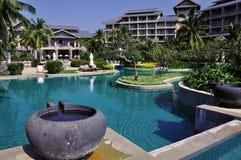 Hilton Sanya Rücksortierung lizenzfreie stockbilder