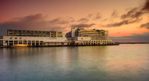 Hilton on Viaduct Harbour Royalty Free Stock Photo