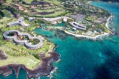 Hilton Waikoloa Village stor ö, Hawaii arkivbild