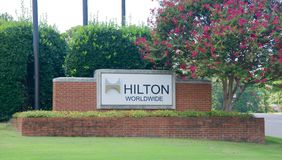 Hilton Worldwide, Memphis, TN. Hilton Worldwide is one of the largest and fastest growing hospitality companies in the world, with more than 4,700 hotels Royalty Free Stock Images