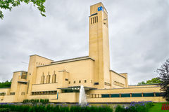 Hilversum City Hall. Famous builiding by architect Willem Dudok Stock Photos